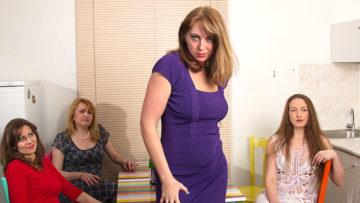 Maturenl - Four naughty housewives explore their lesbian desires