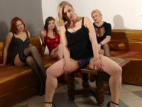 Maturenl - Four naughty housewives go full lesbian