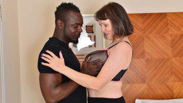 Maturenl - Horny British housewife can't get enough of her boyfriend's big black cock