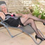 Maturenl - Horny British mature lady getting wet in her garden