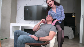 Maturenl - Horny mature lady fucking and sucking her lover