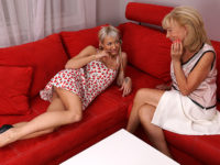 Maturenl - Horny old and young lesbian couple have fun