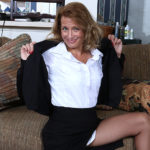 Maturenl - Naughty American secretary playing with her pussy