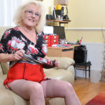 Maturenl - Naughty chubby mature lady playing with her pussy