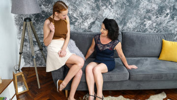Maturenl - Naughty old and young lesbians go all the way and then some