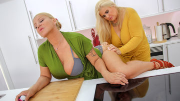 Maturenl - Two big breasted mature ladies shopping for toys