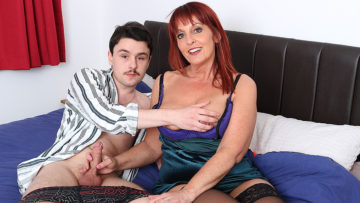 Maturenl - This naughty cougar loves to suck and fuck the cock from her toy boy
