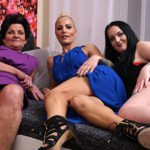 Maturenl - Three Old And Young Lesbians Make Out On The Couch
