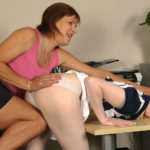 Maturenl - Blonde Babe Getting Taught A Lesson From A Tough Mature Slut