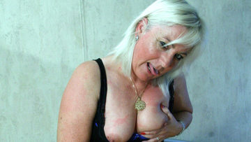 Maturenl - Blonde Mama Getting Her Tits Filled With Cum