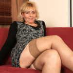 Maturenl - Blonde Mature Slut Playing With Her Wet Pussy