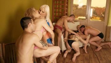 Maturenl - Eight Mature Women Get Eight Hard Cocks To Munch On