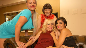 Maturenl - Four Old And Young Lesbians Having Fun