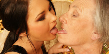 Maturenl - Granny Takes Her Young Lesbian Maid For A Ride