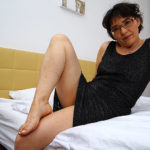 Maturenl - Hairy Mature Lady Masturbating On Her Bed