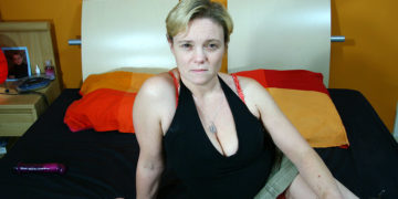 Maturenl - Horny Blonde Housewife Riding A Rubber Cock