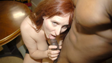 Maturenl - Horny Red Mature Slut Getting Fucked By A Hard Black Cock