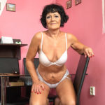 Maturenl - Horny Older Lady Playing With Her Shaved Pussy