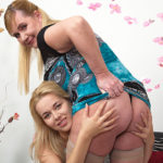 Maturenl - Hot Blonde Babe Playing With A Naughty Mature Lesbian