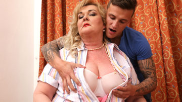 Maturenl - Huge Breasted Mature BBW Playing Around With Her Toyboy