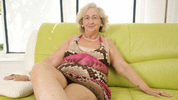 Maturenl - Mature Grandma Playing With A Purple Dildo