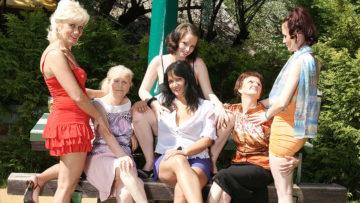 Maturenl - Six Horny Old And Young Lesbians Have A Dirty Wet Picnic