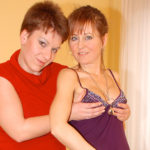 Maturenl - These Naughty Old And Young Lesbians Have Fun