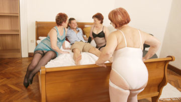 Maturenl - Three Mature Sluts Love To Share A Hard Cock