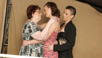 Maturenl - Three Old And Young Lesbians Have Fun