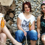 Maturenl - Three Old And Young Lesbians Make Out In The Garden