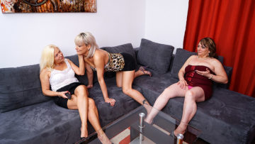 Maturenl - Three Horny Mature Lesbians Getting Each Other Wet