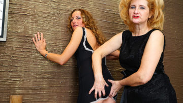 Maturenl - Two Naughty Housewives Go Lesbian On Eachother