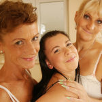 Three Old And Young Lesbians Have Great Fun